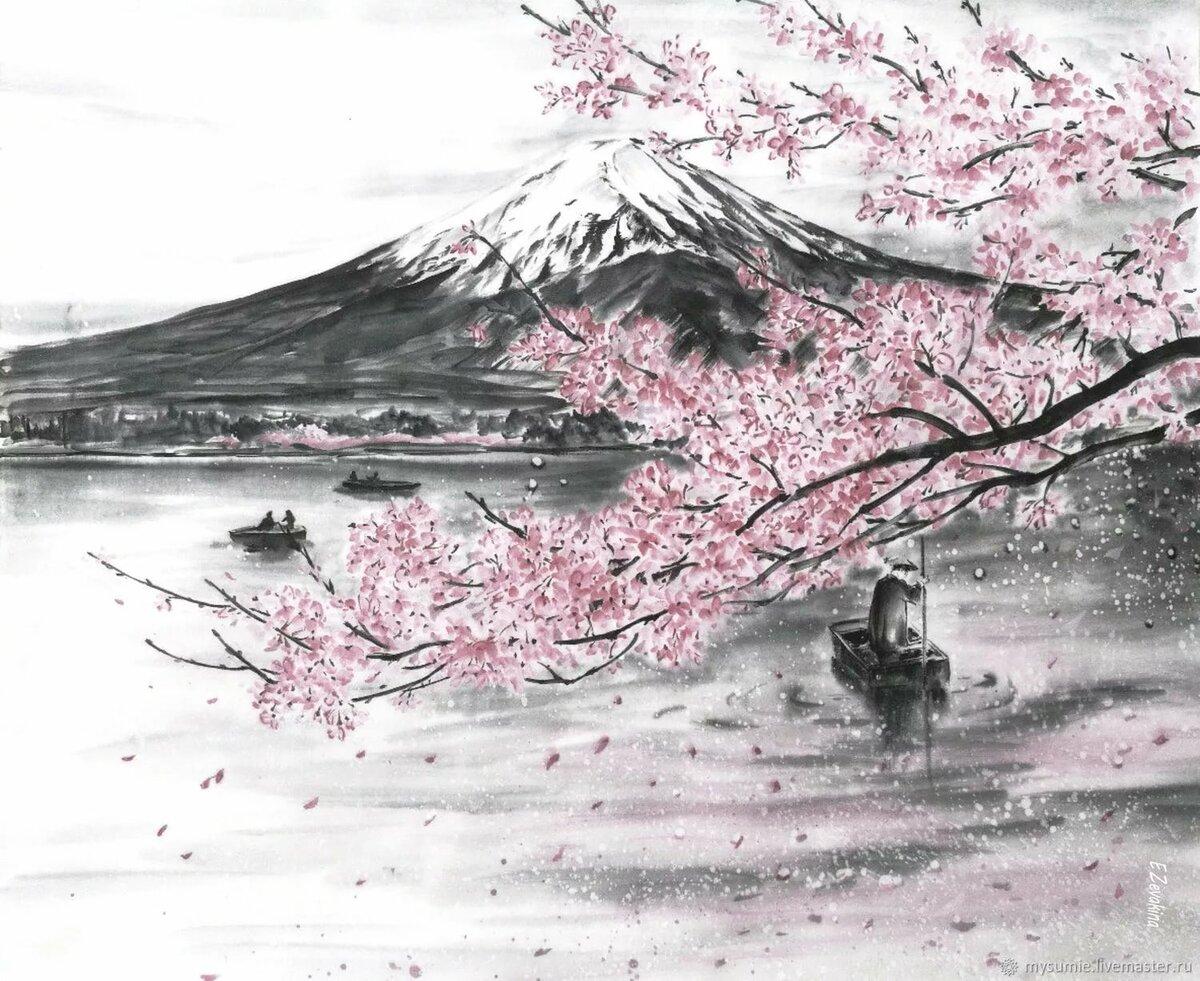 япония картинки рисунки карандашом таком
