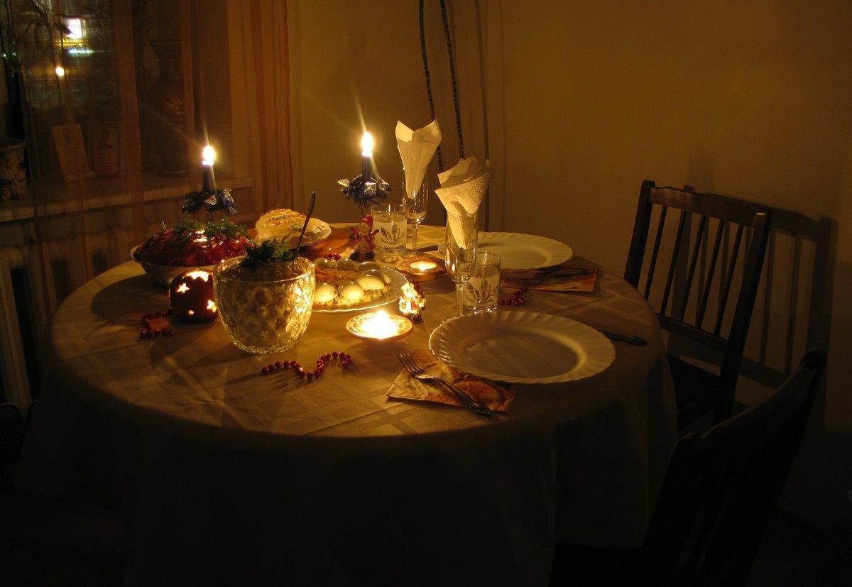 вечер при свечах фото очень минималистично, настроек