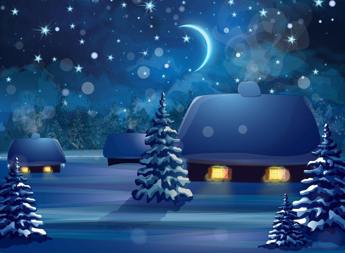 Новогодней ночи картинки