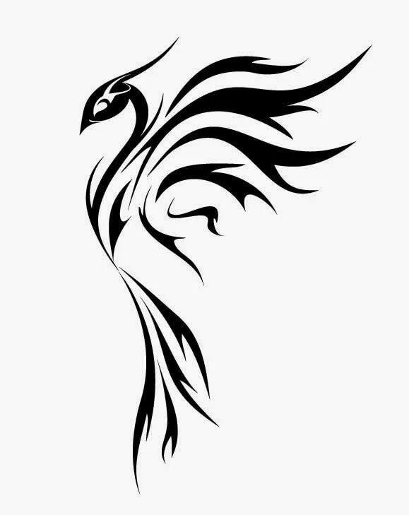 еще одна черно белые картинки феникса при инфаркте