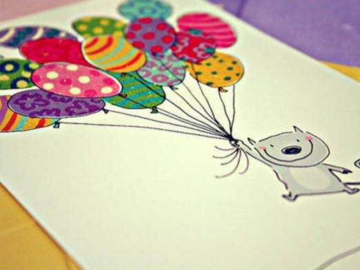 Открытка для мамы на день рождения своими нарисовать, для любимой девушки