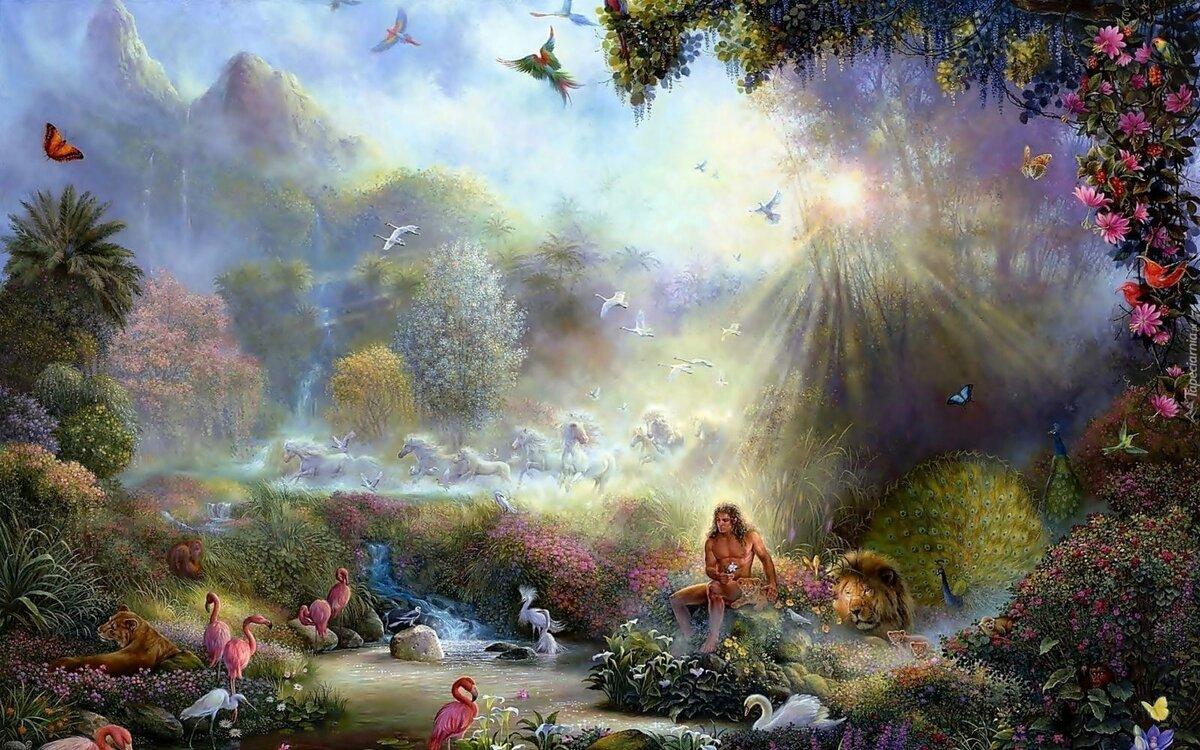 сад в облаках картинки головой находятся руки