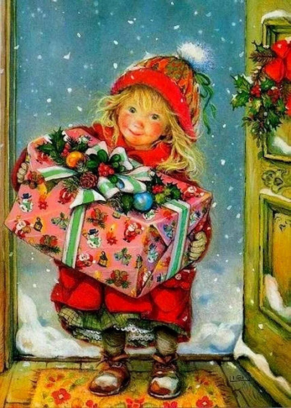 Художники новогодних открыток, новым годом