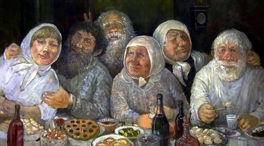Смешные картинки бабки и дедки