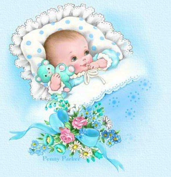 Открытка на новорождением