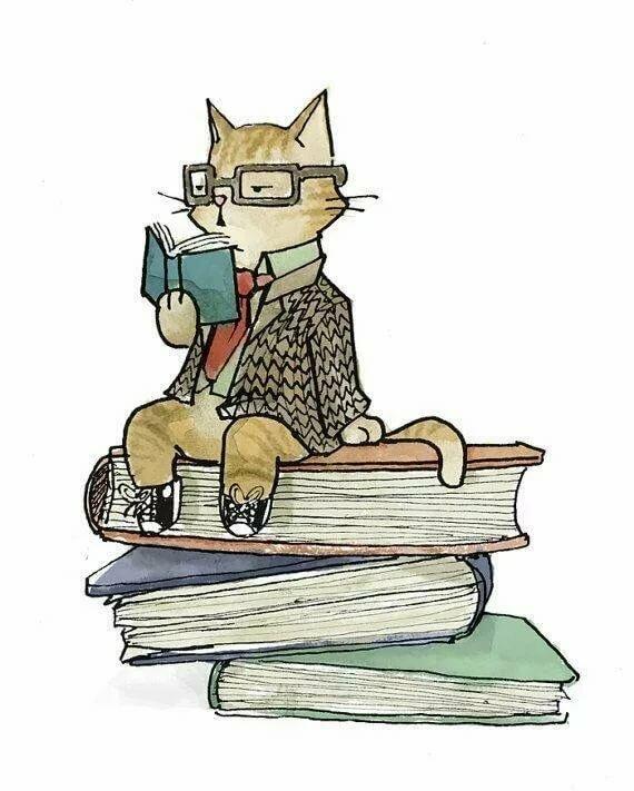 Кот ученый картинки рисованные