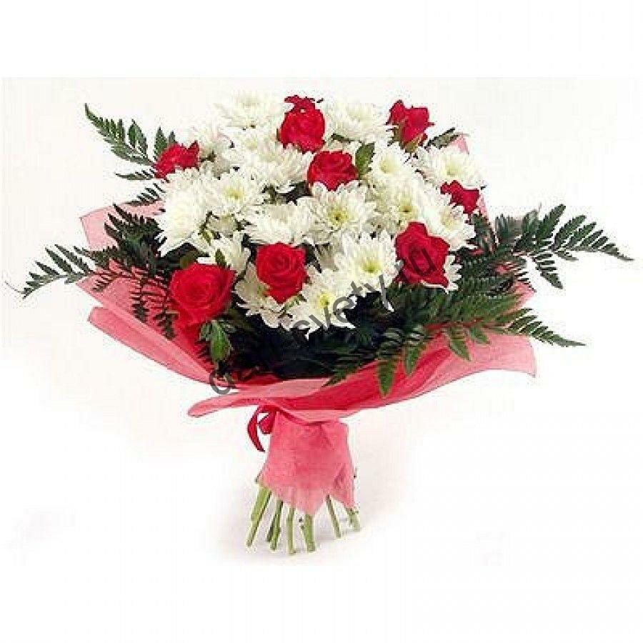 Свадебные, заказ букетов из роз и хризантем с доставкой