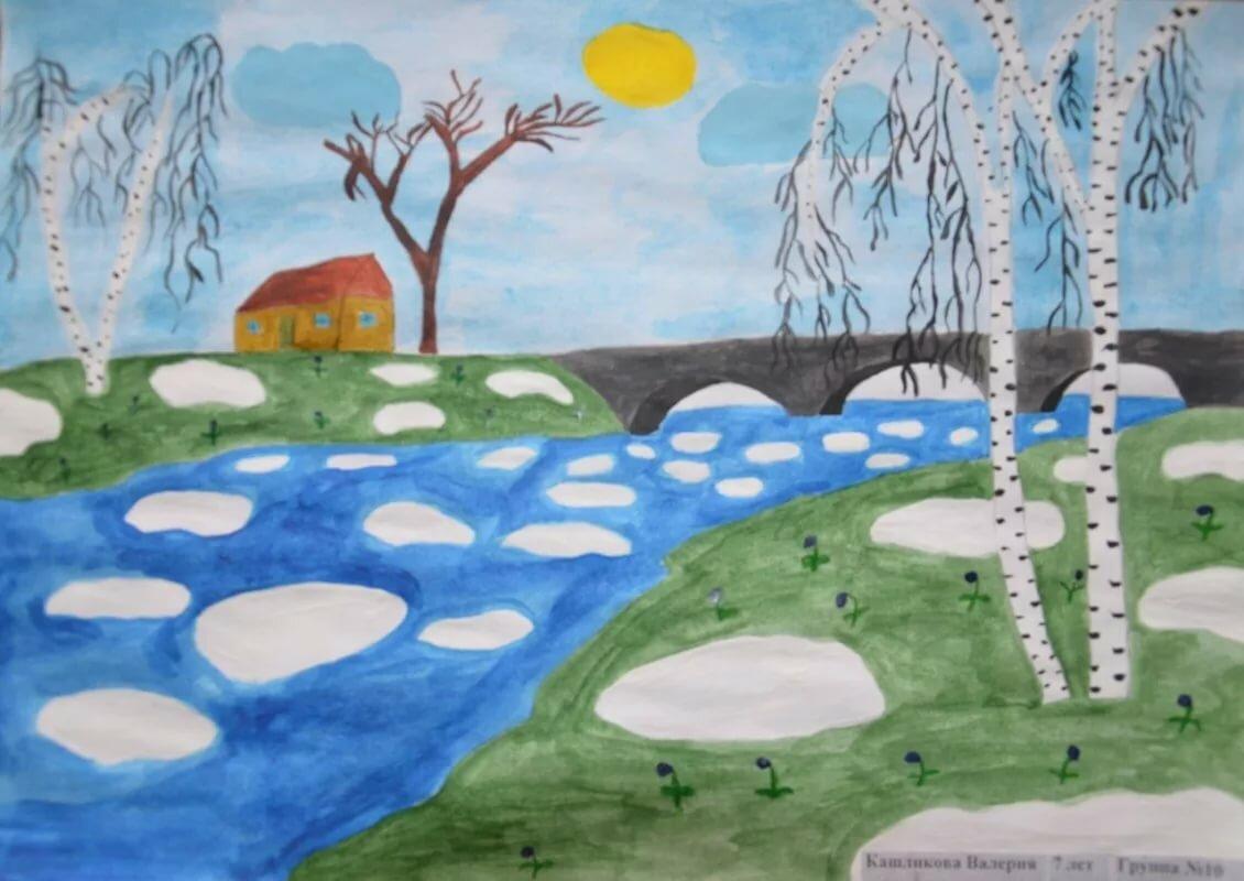 Рисунок весна 2 класс, рождения