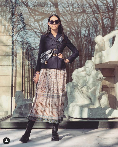 Screenshot 2019 03 03 Viola Arrivabene в Instagram «J'ADIOR the #DiorAW19 🖤 by the amazing mariagraziachiuri 🕶 dior #Mari[...]