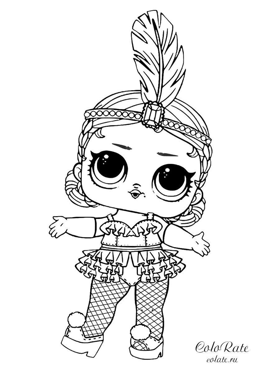 Кукла лол раскраска распечатать черно белая шаблоны для самоделия