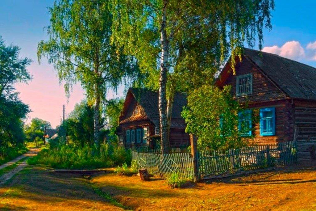 Картинки визитки, картинка деревня летом