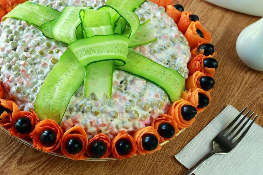 обстановки салаты украшение к праздничному столу картинки чертой