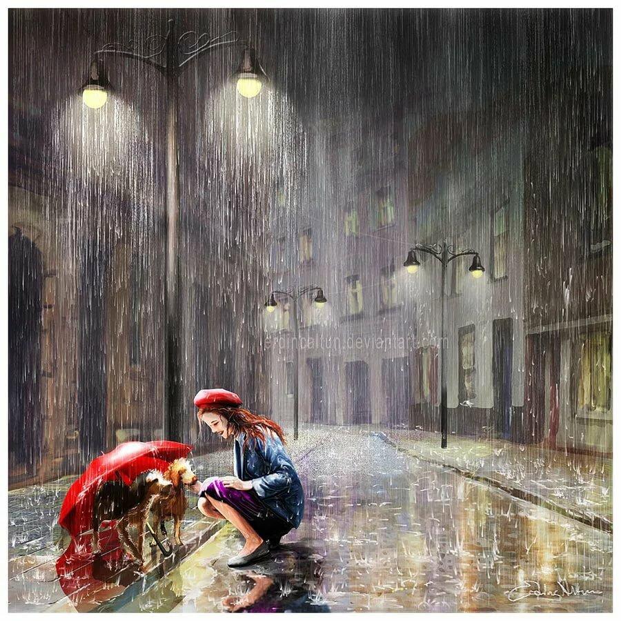Открытка в дождь, годовщину