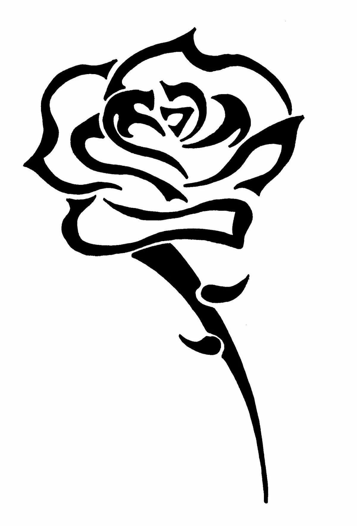 Днем мамочки, рисунок розы для тату