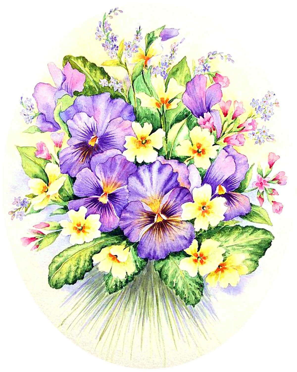 Картинки, открытка с цветами нарисованные