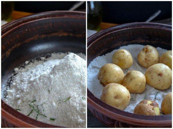 Картофель запеченный в соли