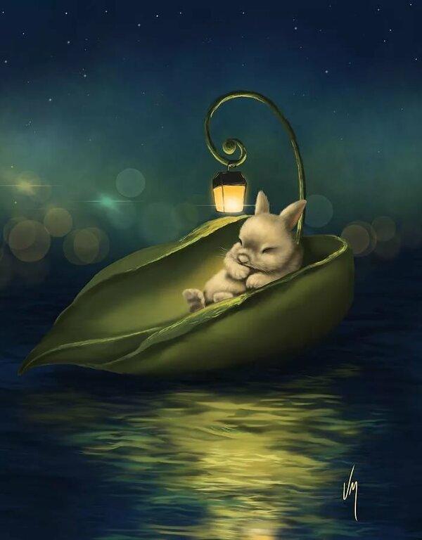 Добрая ночная картинка