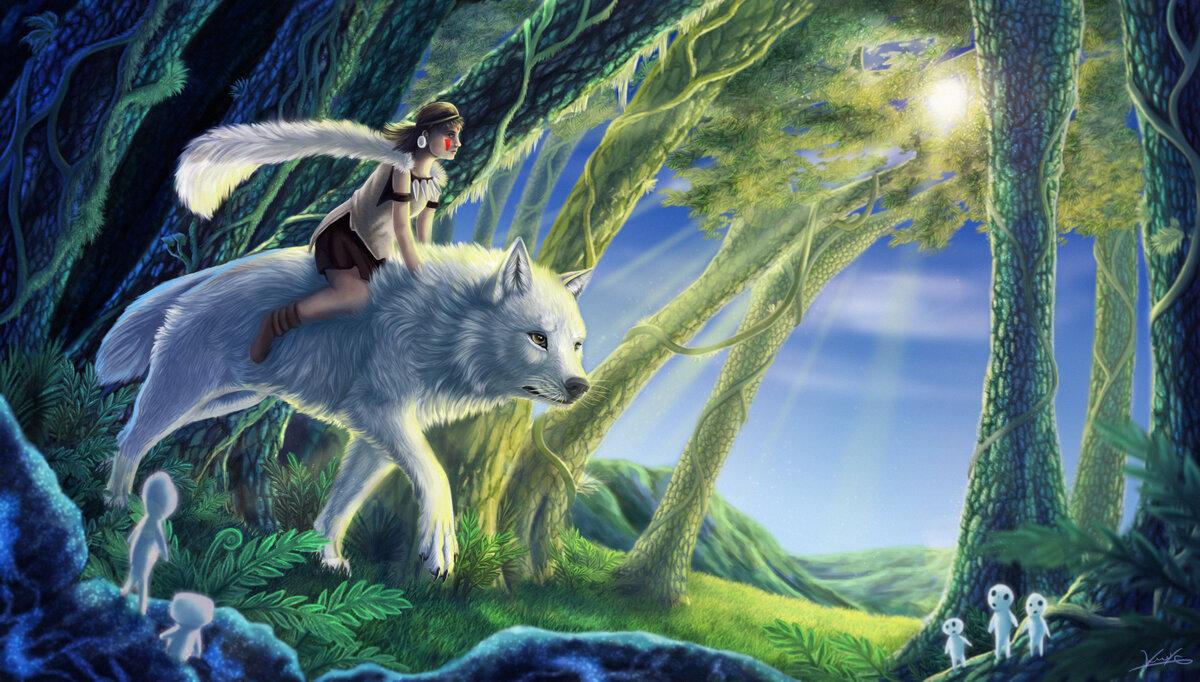 вид, картинки красивые волки фэнтези множество научных