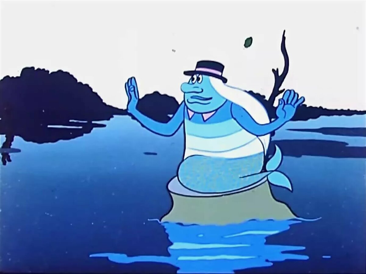 Смешной водяной картинки