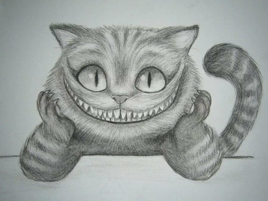 чеширский кот из алисы в стране чудес картинки карандашом оставляют наследие умах