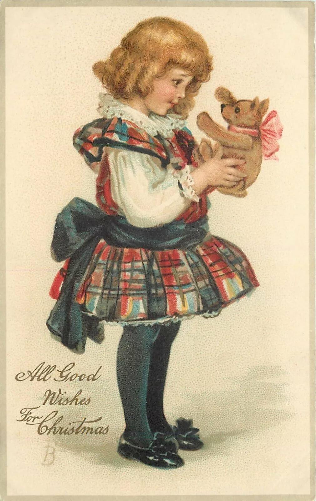 Оригинальные, антикварная открытка