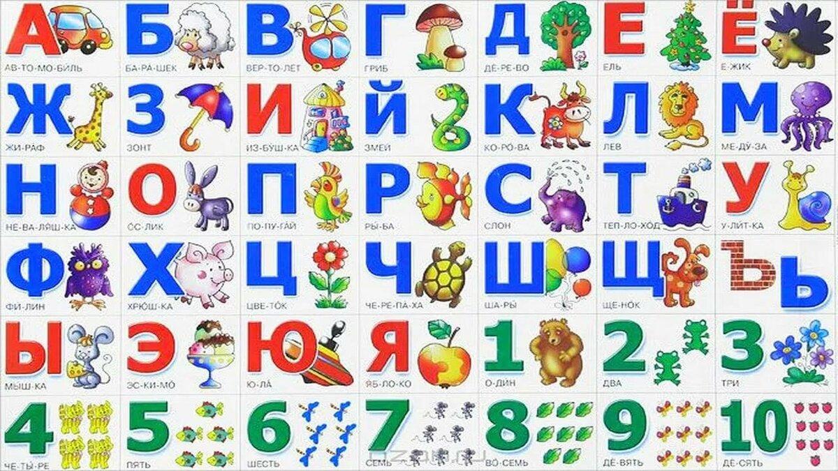 вот картинки с алфавитом для самых маленьких должны быть такими