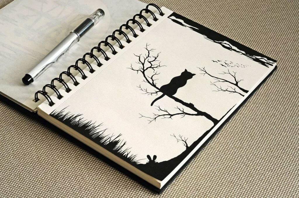 Необычные простые картинки для срисовки, открытки