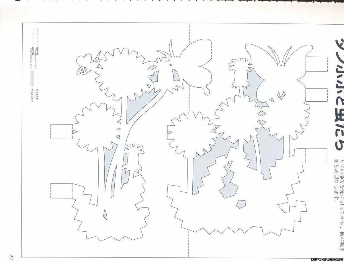 Схемы и шаблоны для объемных открыток своими руками