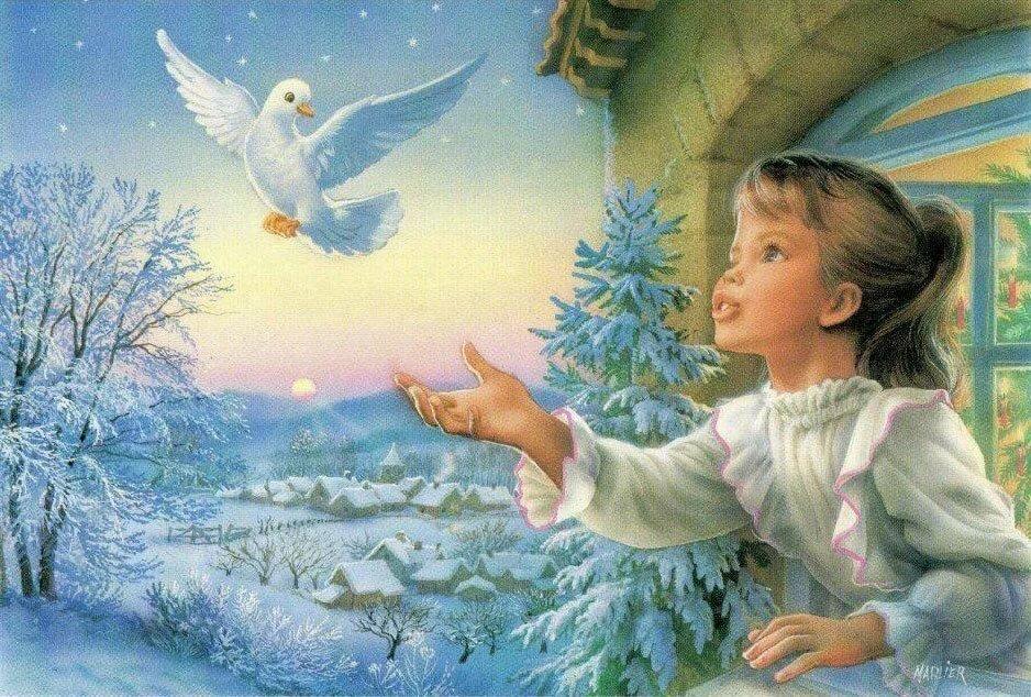 Картинки открыток на рождество