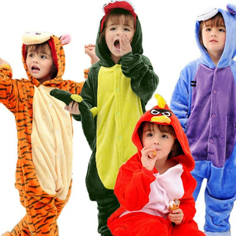Пижамы с рисунками животных для девочек панда Единорог Onesie Пижама для  мальчиков Дети пижамы набор Детская 8a54cbf272685