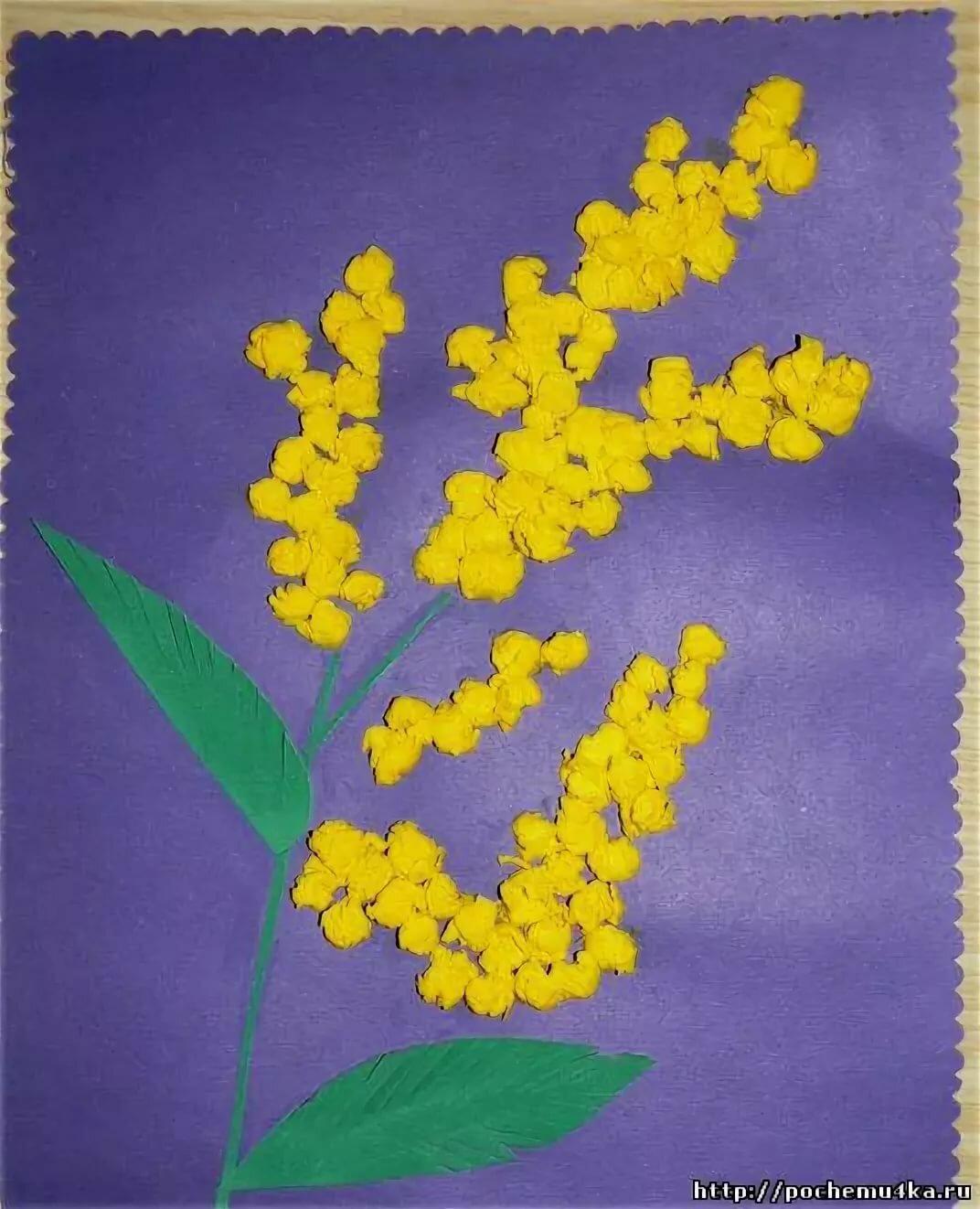 Открытки к 8 марта своими руками в детском саду мимоза, картинки