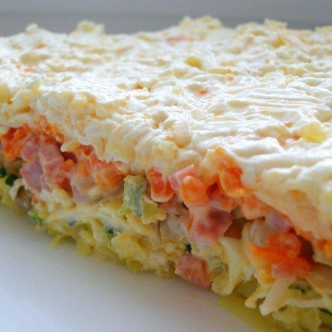 Фото рецепты слоеный салат кстати
