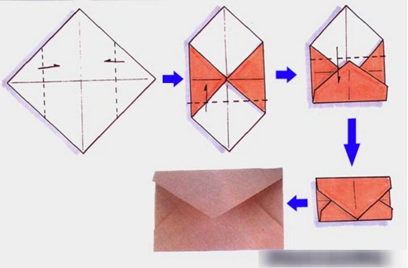 Оригами открытка распечатать