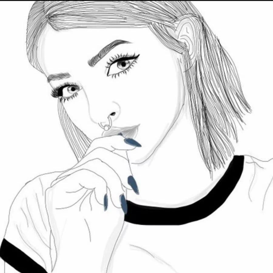 Картинки девочек тумблер для срисовки