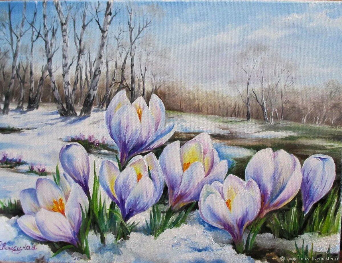 Картинки весны красивые для начинающих
