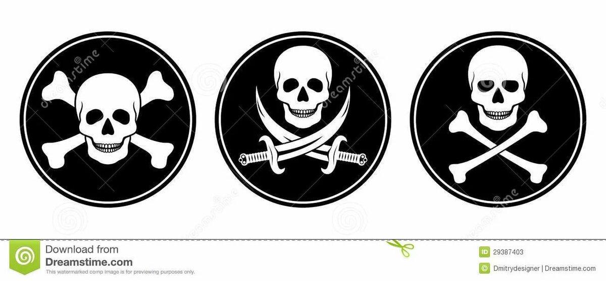 Картинки пиратский череп в круге
