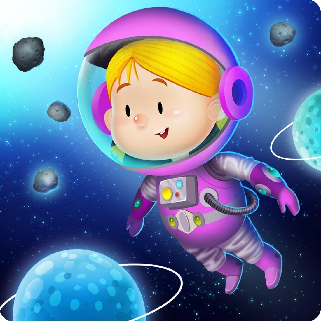 Картинка смешная космос для детей, днем рожденья-креативные открытка