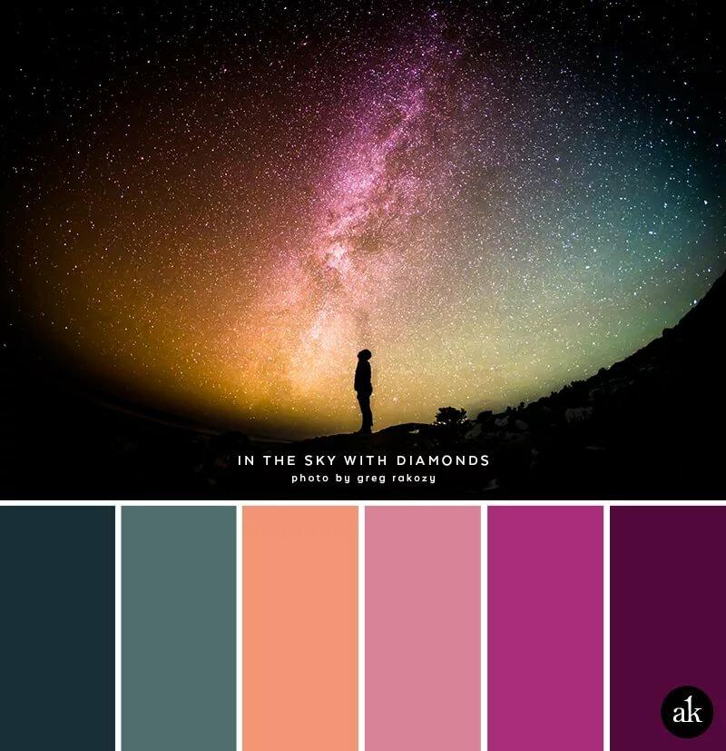 Объемных открыток, картинки с палитрой цветов ночной