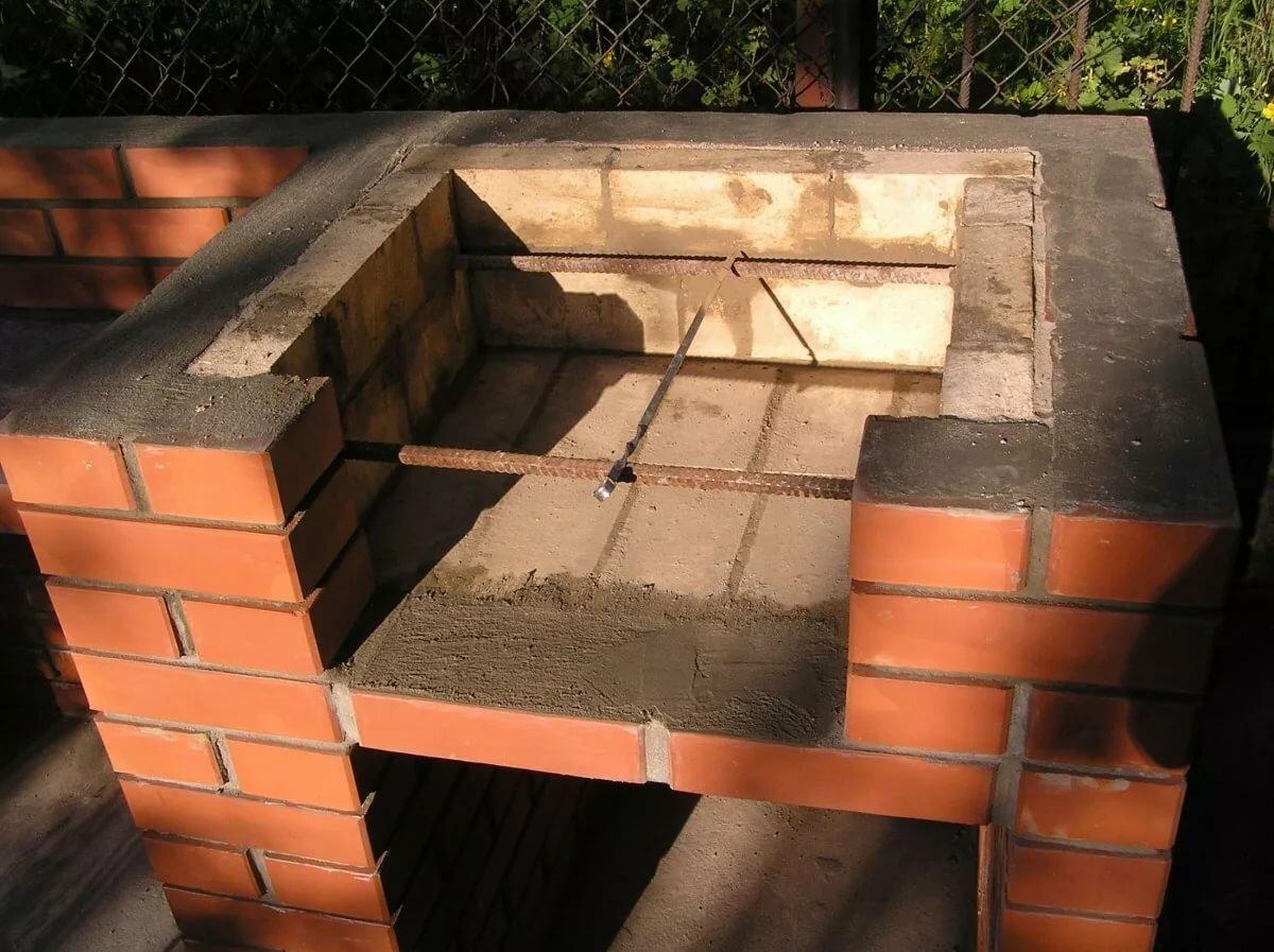 строим мангал из кирпича