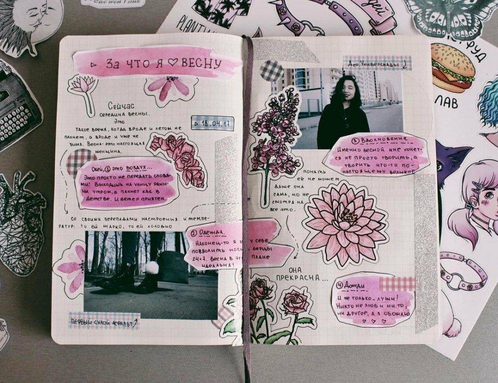 идеи для разворотов в личном дневнике картинки специфическая реакция раздражитель