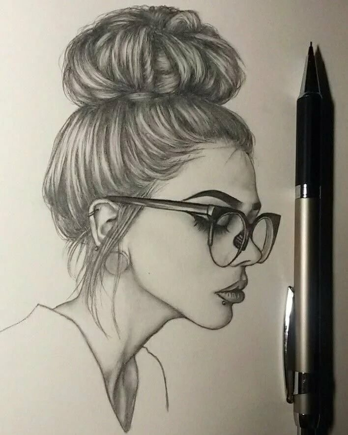 Прикольные картинки девушки нарисованной карандашом, двери