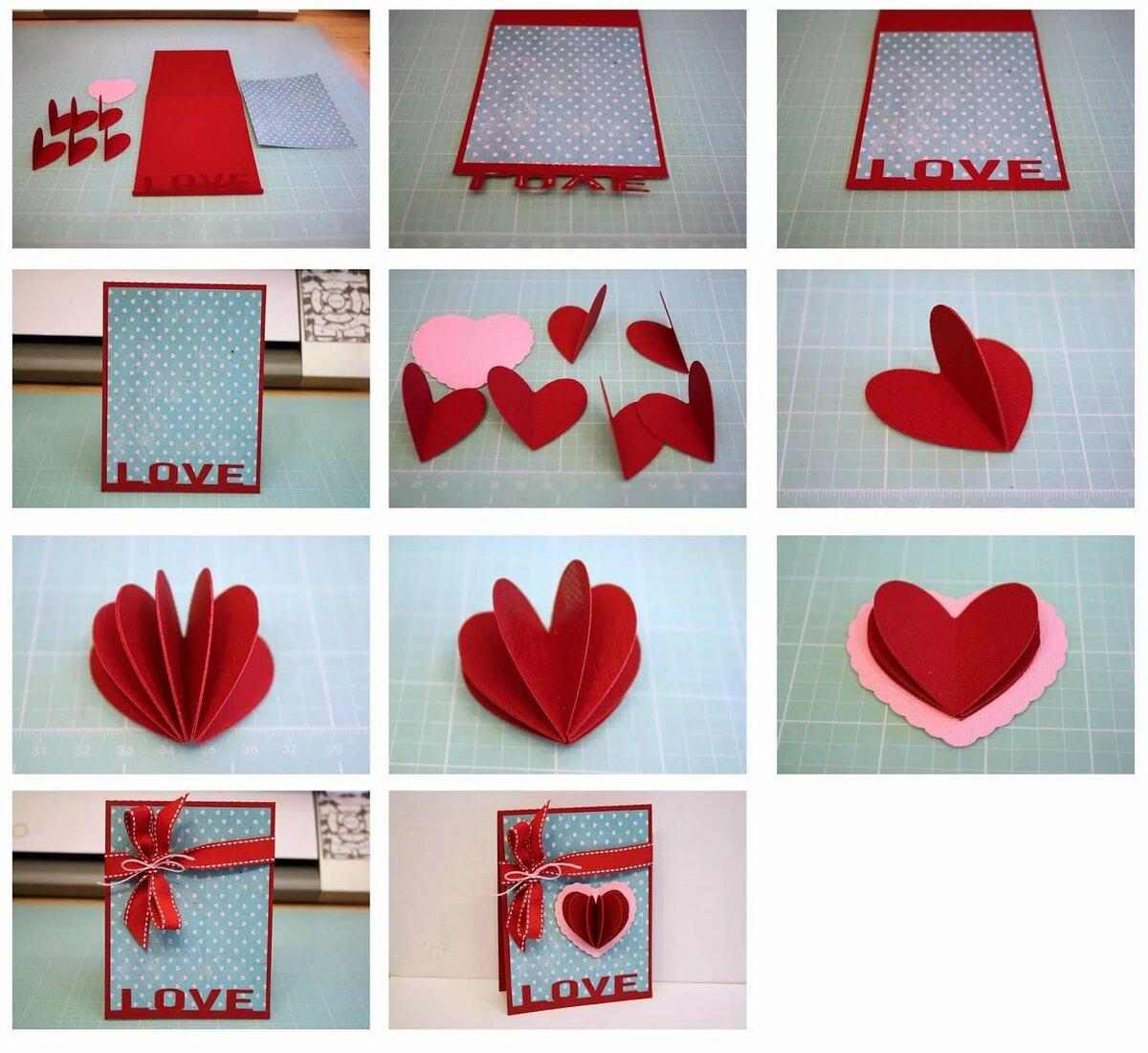 Картинках, как сделать открытку в форме сердца на день рождения