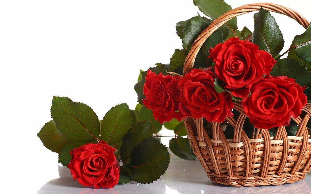 Открытки букет красивых роз