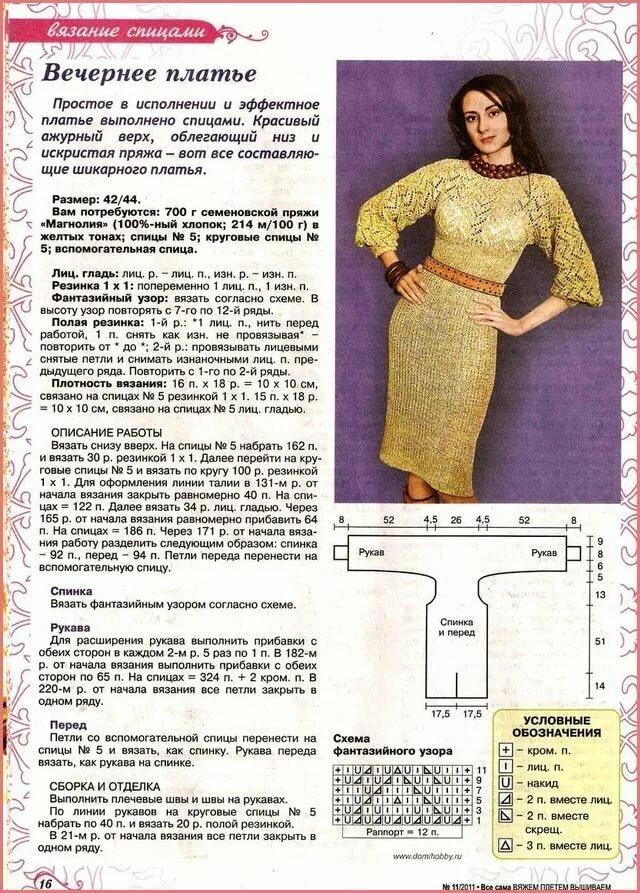 вязаные платья спицами схемы описание фото еще