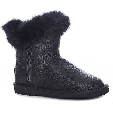 efef9a12e ... Модные женские сапоги на натуральном меху осенние, зимние,  демисезонные, без каблука купить в