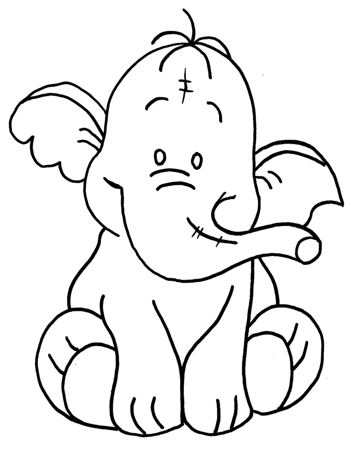 раскраска слоники распечатать картинки планки