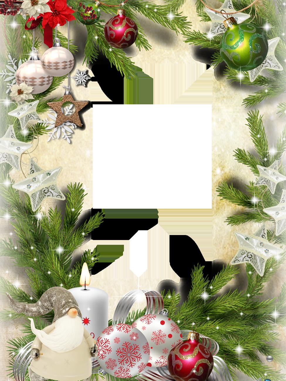 Капельки росы, рамки для новогодних открыток 2019