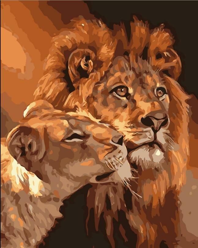 Открытка со львами
