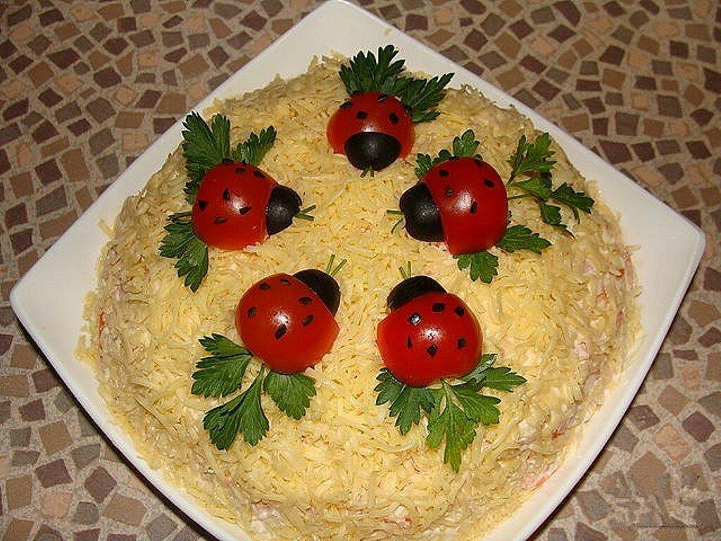 Как красиво украсить салаты фото и рецепты