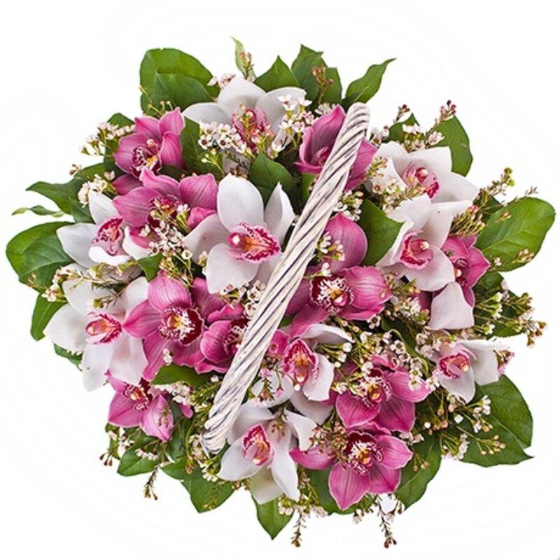 Заказ цветов орхидеи через интернет, букет фото